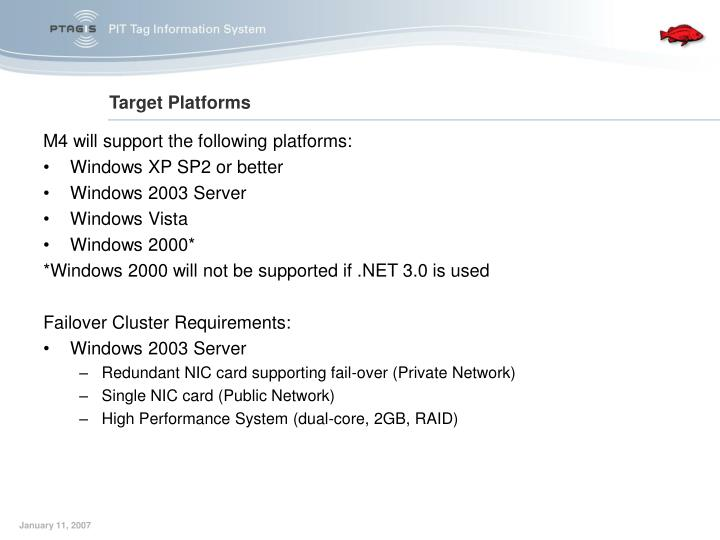 M4 will support the following platforms: