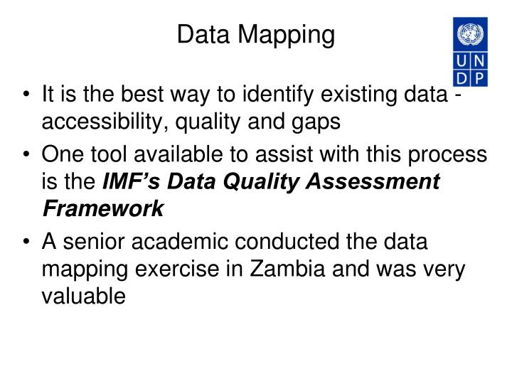 PPT Data Sources And Collection Methods PowerPoint Presentation - Data mapping exercise