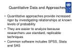 quantitative data and approaches