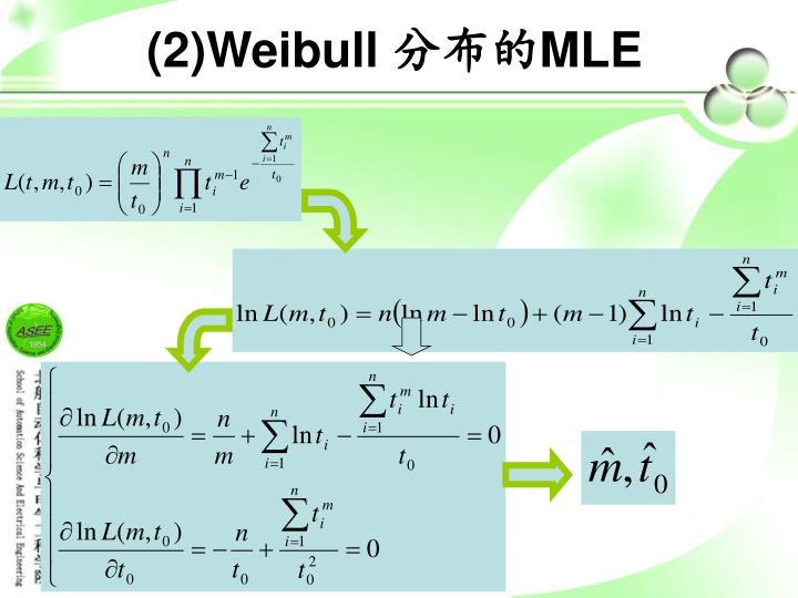 (2)Weibull