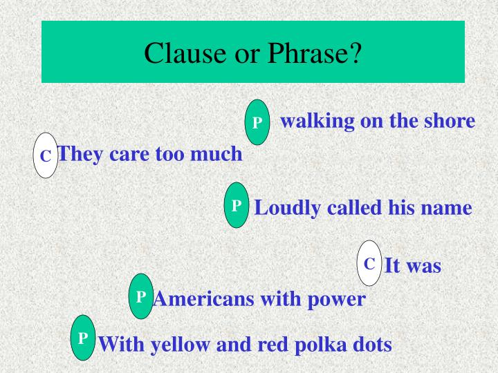 Clause or Phrase?