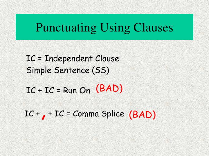 Punctuating Using Clauses