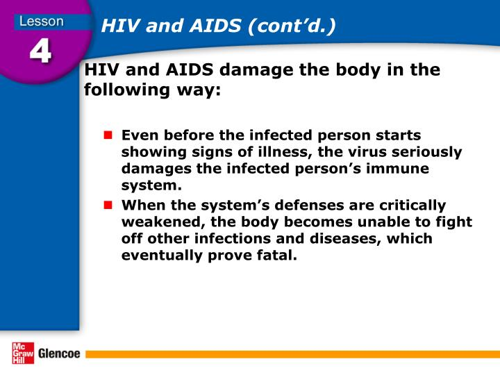 HIV and AIDS (cont'd.)