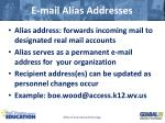 e mail alias addresses