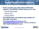 rapid notification systems