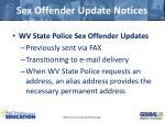 sex offender update notices