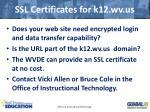 ssl certificates for k12 wv us
