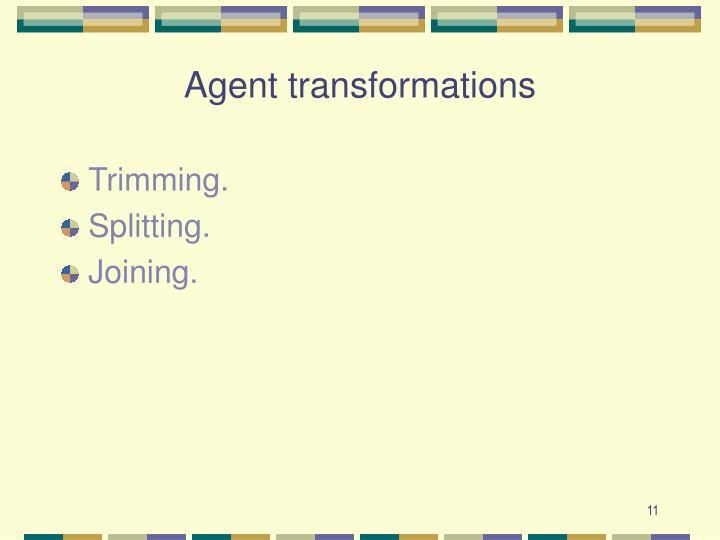 Agent transformations