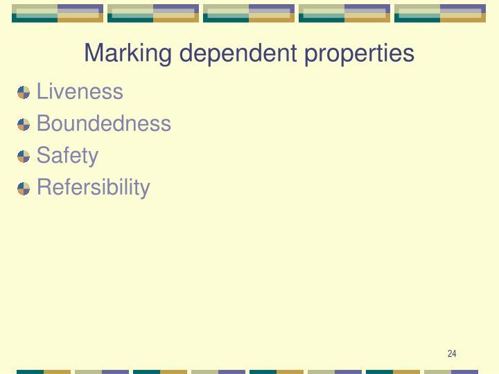 Marking dependent properties