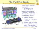 the atlas pixel detector