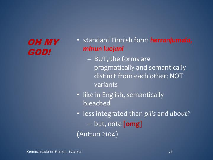 standard Finnish form