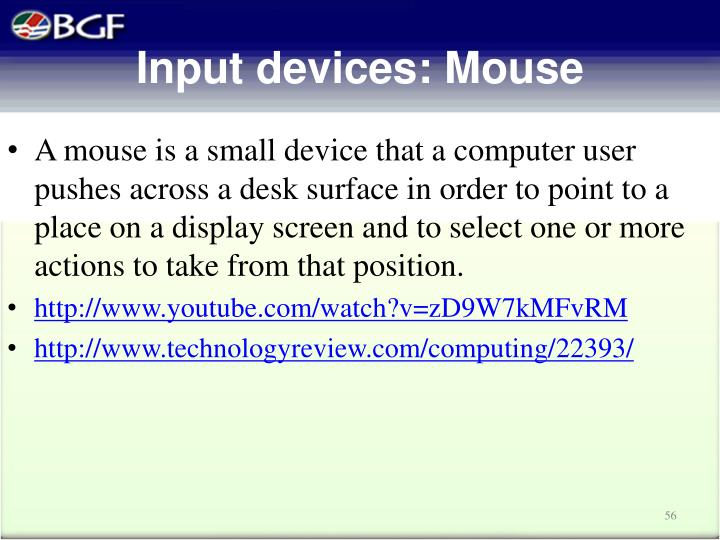 Input devices: M