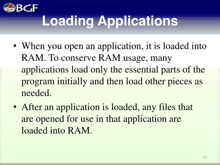 Loading Applications