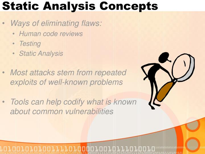 Static analysis concepts