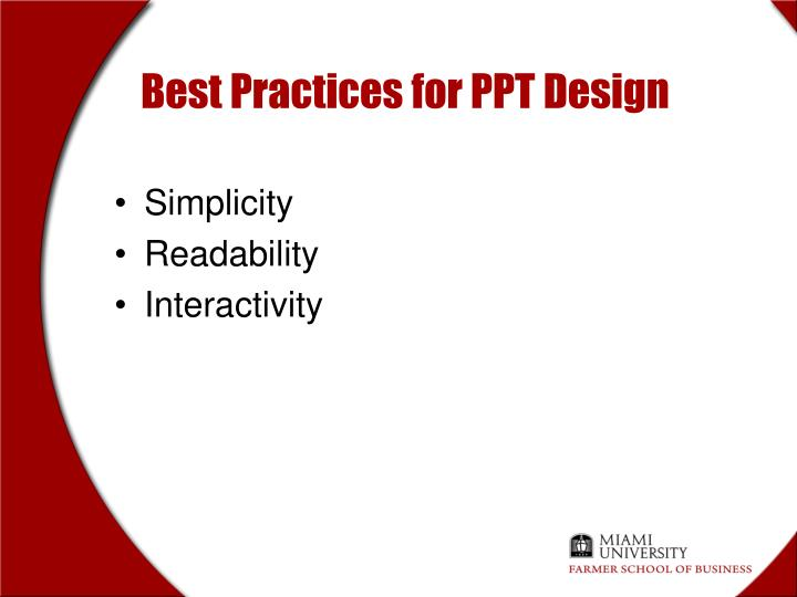 Best Practices for PPT Design