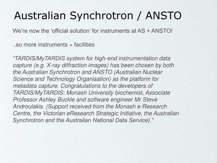 Australian Synchrotron / ANSTO