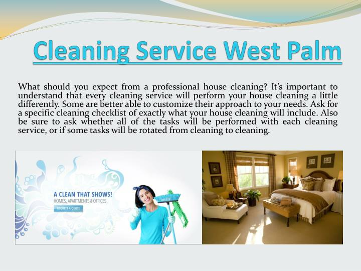 Cleaning service west palm
