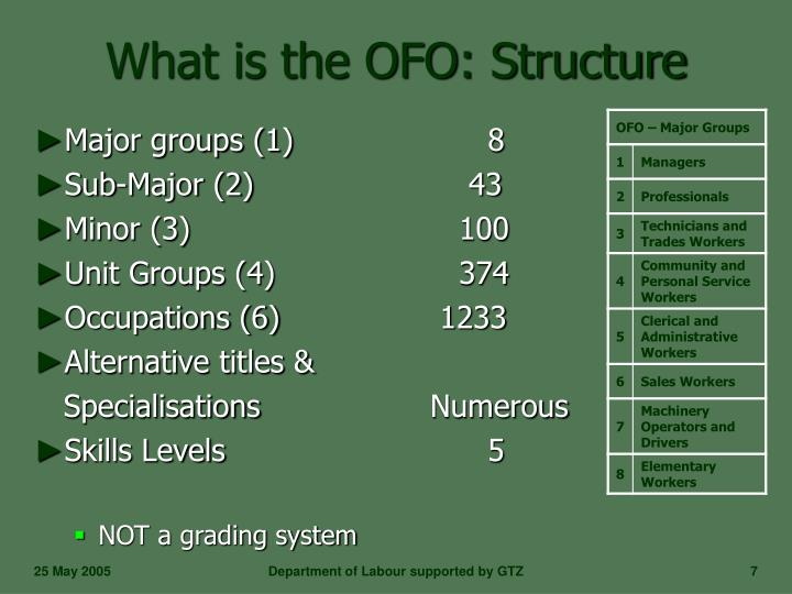 What is the OFO: Structure
