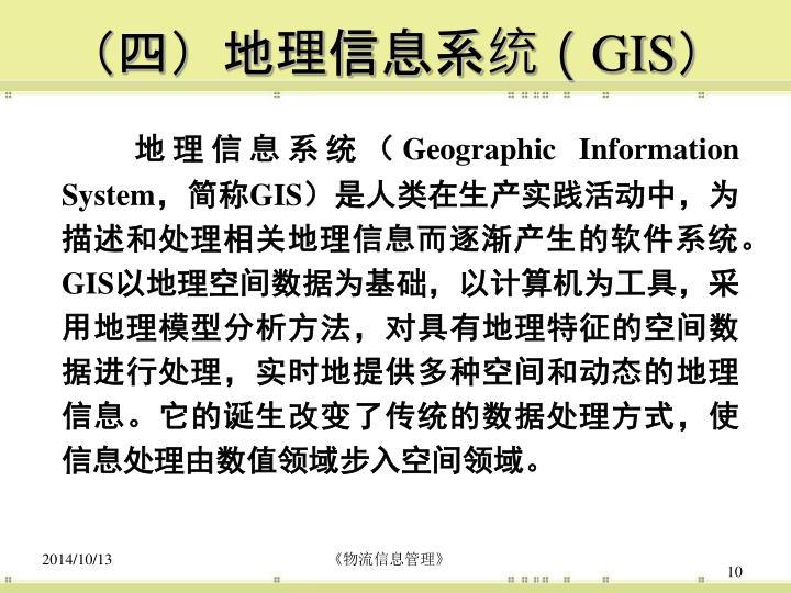 (四)地理信息系统(