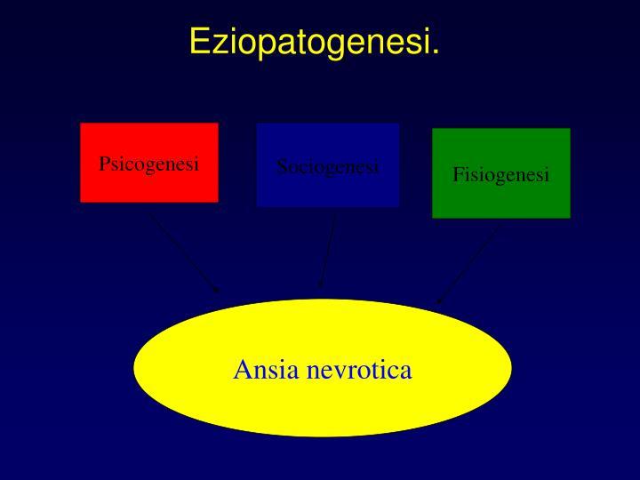 Eziopatogenesi.