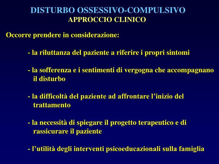 DISTURBO OSSESSIVO-COMPULSIVO