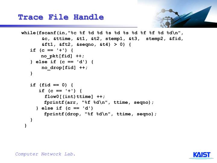 Trace File Handle