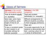 views of fairness