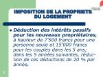 imposition de la propriete du logement