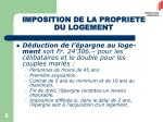 imposition de la propriete du logement1