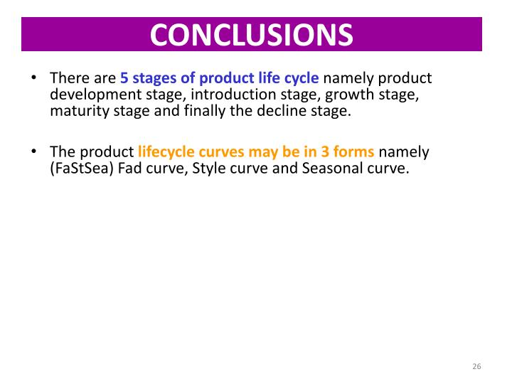 conclusion of product life cycle