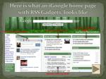 here is what an igoogle home page with rss gadgets looks like