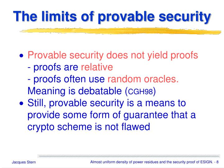 The limits of provable security