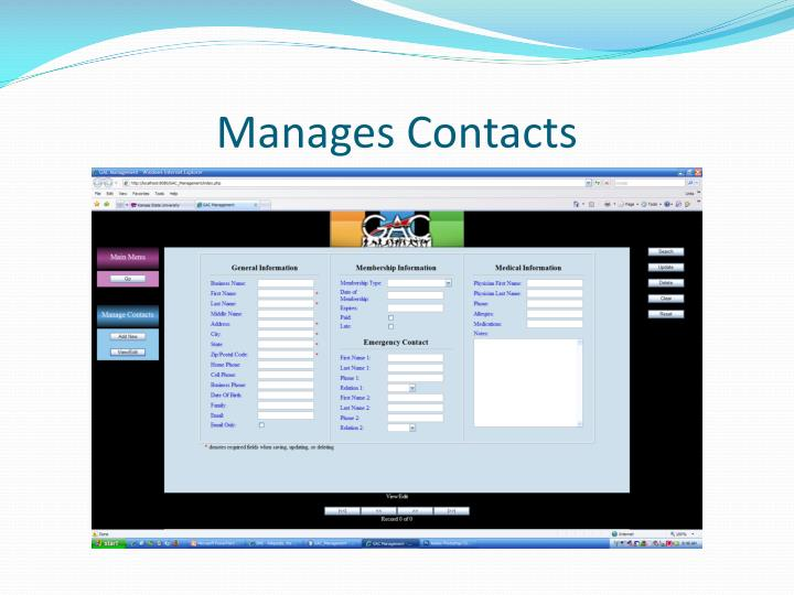 Manages Contacts