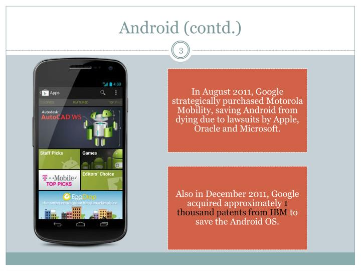 Android contd