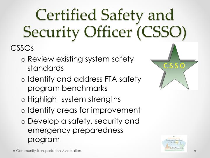 Certified Safety and Security Officer (CSSO)