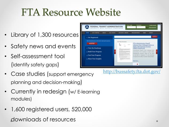 FTA Resource