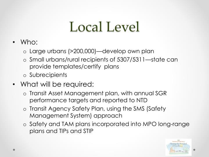 Local Level