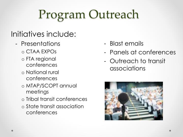 Program Outreach