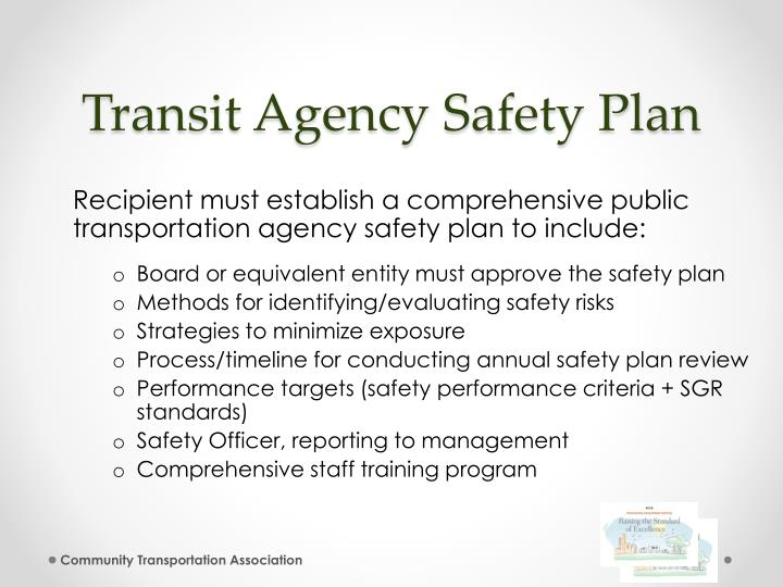 Transit Agency Safety Plan