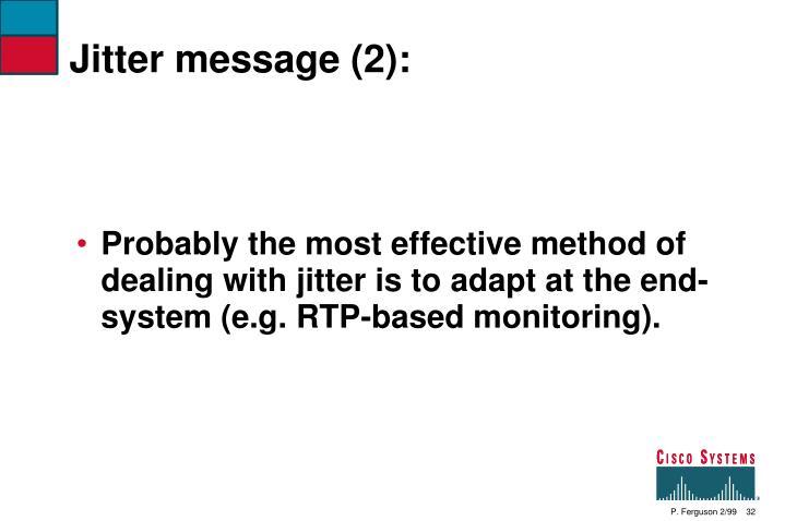 Jitter message (2):