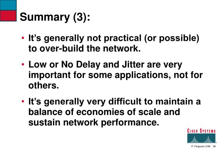 Summary (3):