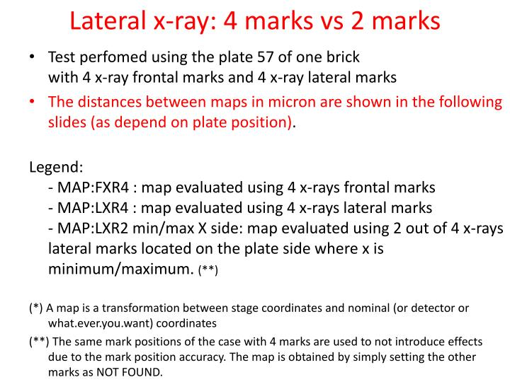 lateral x ray 4 marks vs 2 marks n.
