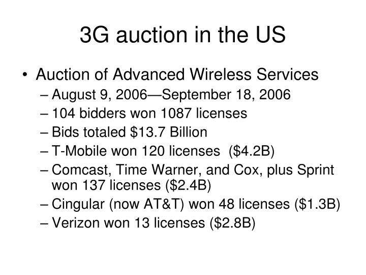 3G auction in the US