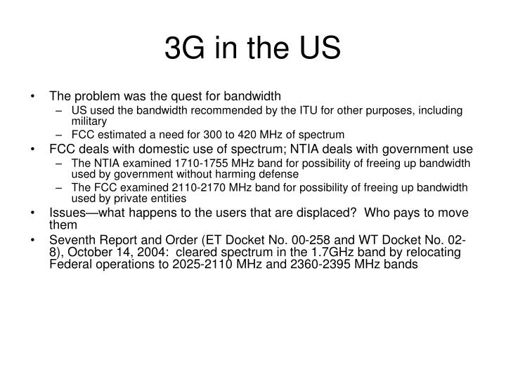 3G in the US