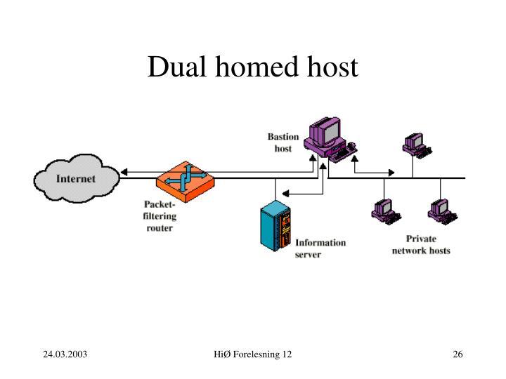Dual homed host