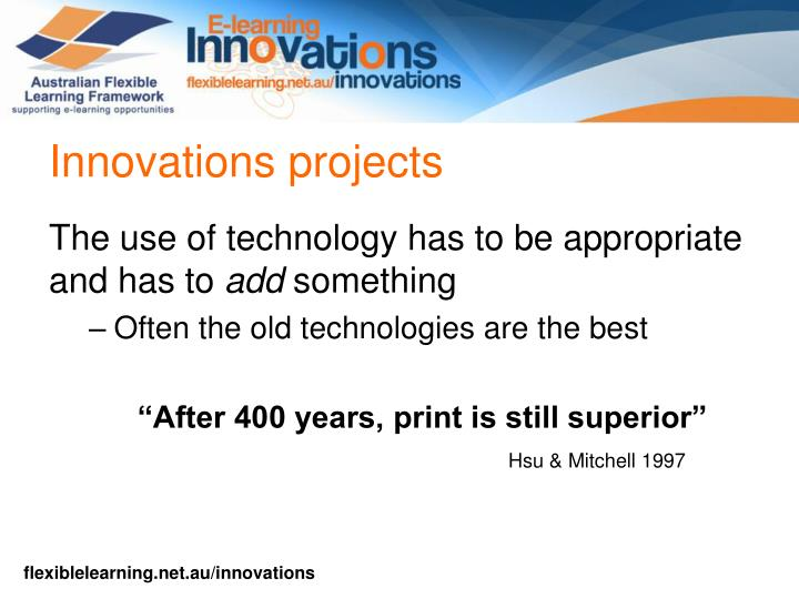 Innovations projects