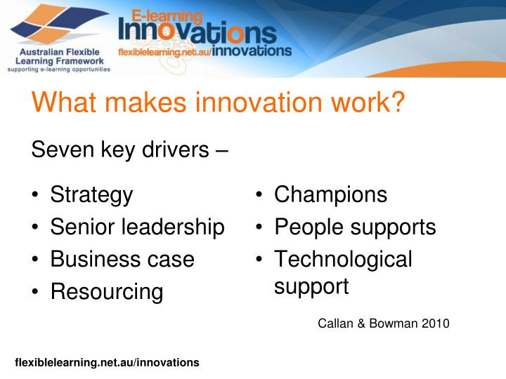 What makes innovation work?