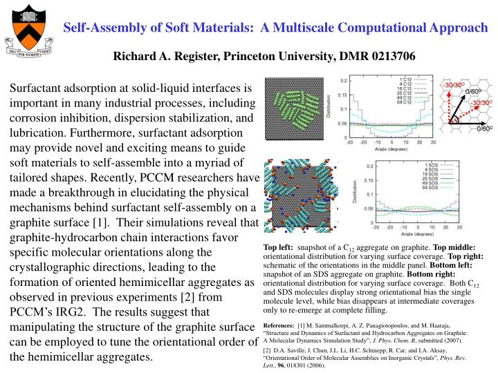 Self-Assembly of Soft Materials:  A Multiscale Computational Approach