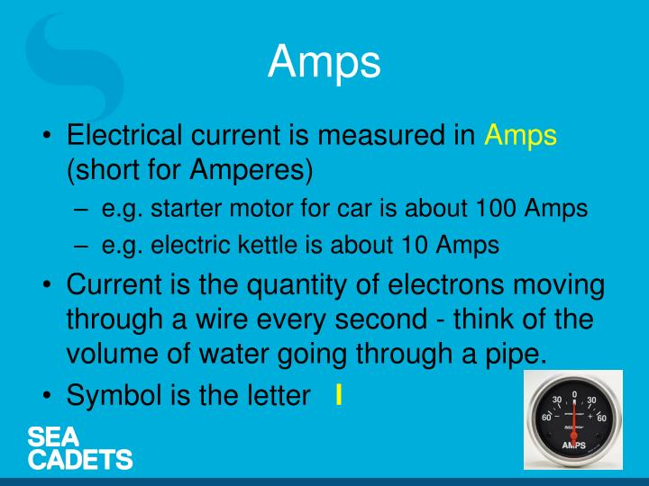Electrical current is measured in