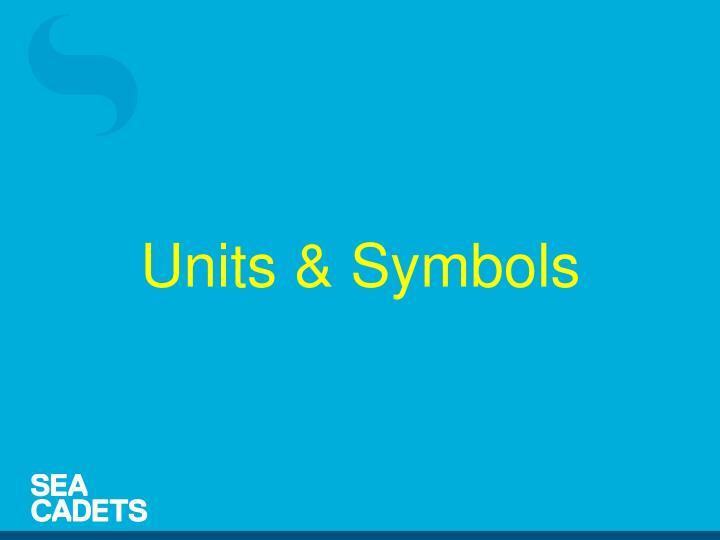 Units & Symbols